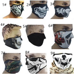 Neoprene Meia Máscara de Esqui Aquecedor de Rosto Ao Ar Livre Esportes Ciclismo Motocicleta máscara Unisex À Prova de Poeira Metade Máscaras Faciais À Prova de Vento venda por atacado
