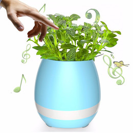 China Bluetooth Speaker Smart Colorful Piano Music Flower Pot Touch Induction Creative Gift Indoor Green Plant Music Potted Plant suppliers