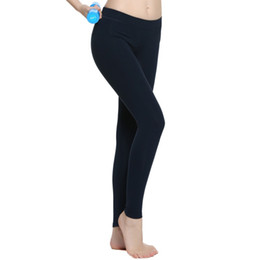 Hot! Newest Classic Hot Full Color Dark Blue Solid Color Nine Point Women Pants Yoga Sportswear