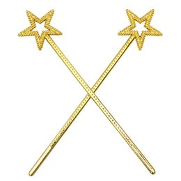 Barato Traje De Fantasia De Ouro-Princess Star Wand Fairy Angel Magic Wands Party Cosplay Fantasia Dress Up Costume Props Plástico Prata de ouro ZA4383