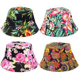 742523257b942 Children grid Bucket Hat Big Girls Casual Flower Sun Printed Basin Canvas  Topee kids fisherman caps Baby Beanie Caps 27 Color