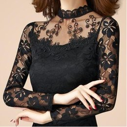 $enCountryForm.capitalKeyWord Canada - Plus Sizes Women Casual Lace T Shirt Sexy Slim O Neck Tops Female Long Sleeve Hollow Out Cotton Pullovers MDMM