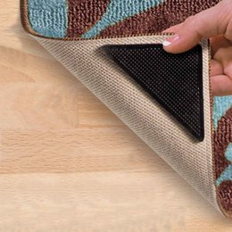 rug gripper nonslip area rug pad self adhesive carpet corner anti skid stopper set