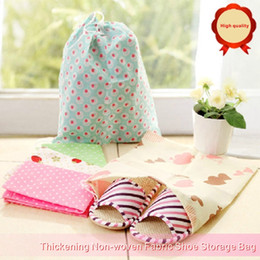 Discount variety wholesale clothes - High Quality Thickening Non-woven Fabric Shoe Storage Bag Can Store A Variety Of Shoes And Underwear Socks.