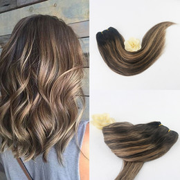Hair Straightening Products Wholesale NZ - Wholesale 100% Malaysian Virgin Hair Product Grade 10a Balayage Color #2 3 27 Remy Brazilian Hair Extension Human Hair Weave