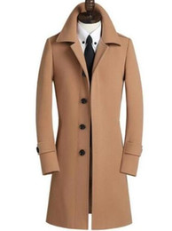 Wholesale casaco cashmere masculino for sale - Group buy single breasted woolen coat men trench coats overcoat mens cashmere coat casaco masculino inverno erkek england casual clothing