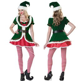Barato Traje De Mascote Senhoras-Sexy Santa Claus Dress Fancy Dress Costume Christmas Ladies Dress Sra. Xmas Mascote Trajes B122