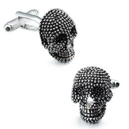 Charm Jewelry Gemelos de hombre personalizado cráneo de latón Gemelos Botón accesorios de la boda