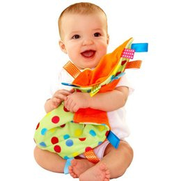Discount baby comfort cloth - Wholesale-Baby Comforting taggies Blanket Multifunctional baby taggies toys soft toddler Grasping fantoche towel newborn