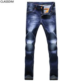 Chinese  Men's cotton straight jeans Men's four seasons simple feet jeans Blue Dark blue Black three color options Size 27-36 manufacturers