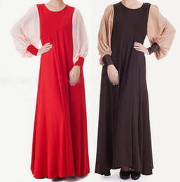 $enCountryForm.capitalKeyWord NZ - Abaya turkish milk silk chiffon women Muslim Dress Islamic gown for women robe Dubai dress gown lantern sleeve dress D191