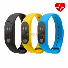 phone bracelets UK - For Android IOS Smart Phone Newest M2 Smart Bracelet Wristband 0.42 Inch OLED Screen IP67 Waterproof Support Heart Rate Monitor Step Gauge