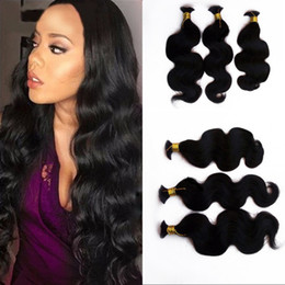 Weft Bulk Human Hair For Braiding NZ - 3 Bundles Human Hair Bulk for Braiding Brazilian Body Wave Bulk Hair Extension without Weft G-EASY