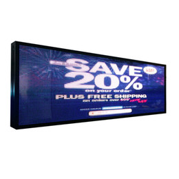 Wholesale LED full color P5 indoor advertising electronic logo led rolling information display size can be customized