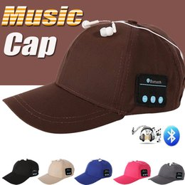 bluetooth hat cap NZ - Bluetooth Music Earphone Hat Baseball Caps Sunhat With Bluetooth Travel Sports Bluetooth Headset Stereo Headphone Handfree For Smartphone