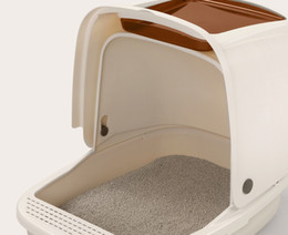8lself cleaning cat litter box variety of types of size cats anti splattered with free litter shovel15l