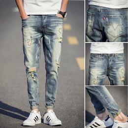 Men Destroyed Patch Jeans Online | Men Destroyed Patch Jeans for Sale