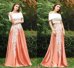 Crop top evening dress
