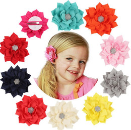 Free shipping Hot - haired children 's hair ornaments multi - storey rhinestone FJ122 mix order 60 pieces a lot on Sale