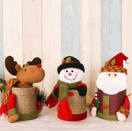 christmas santa claus candy jars boxes snowman deerlet santa paper creative container best for children with retail package drop shipping - Christmas Candy Jars