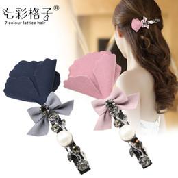 $enCountryForm.capitalKeyWord Canada - Woman headdress hair Colorful plaid (jewelry) Korea hair bangs Clip Flower hairpin clip clip A0432