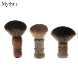 Brush Animals Canada - 12cm,13cm,14cm Wooden Handle Neck Cleaning Brush Salon Barbers Haircut Neck Duster Brush Animal Soft Hair Makeup Tools