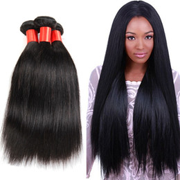 "brazilian human hair for weaving Australia - 3 4PC Peruvian Straight Hair 12""-30"" Human Hair Weaves Natural Color Hair Extensions for Party, Birthday and Holidays"