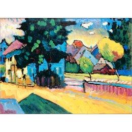 kandinsky landscape paintings 2019 - High quality Wassily Kandinsky arts Murnau - Studie zur Landschaft mit grunem Haus. hand painted Oil paintings reproduct