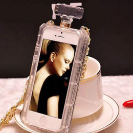 Ladies Perfume Wholesale Canada - For iPhone7 7plus 6s Case Colorful Lady Crystal perfume bottle with necklace cover case for i6 6plus with Retail Package fu