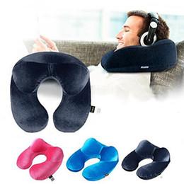 discount sleep apnea pillow ushape travel pillow for airplane inflatable neck pillow travel accessories - Sleep Apnea Pillow