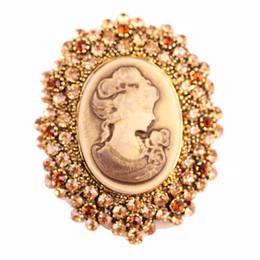 $enCountryForm.capitalKeyWord UK - Crystal Rhinestone Vintage Style Fashion Victorian Style Cameo Brooch Lady Scarf Brooch Pins DHL Free Shipping