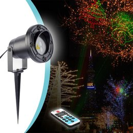 1X Red Green 8 In 1 Christmas Effect Laser Projector Light Landscape  Lighting Waterproof Outdoor Garden Lawn Lamps With Remote Controller Discount  Outdoor ...