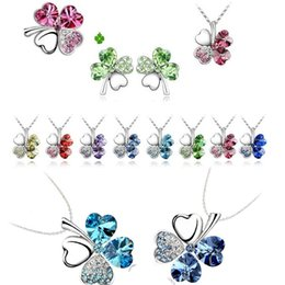 $enCountryForm.capitalKeyWord UK - New 925 Alloy Silver plated Plate Fill Necklaces Four Leaf Clover Pendant Necklace Lovers Gift cheap price beauty necklace C052