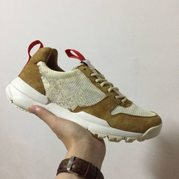 Genuine leather fabric yard online shopping - New Tom Sachs x Craft Mars Yard TS NASA Men Running Shoes women Fashion High Quality Sports sneakers trainers Size