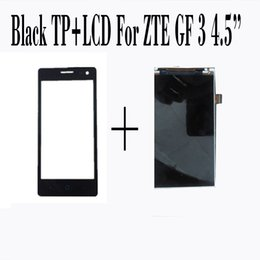China Wholesale- 100% New Touch Screen+LCD Display For ZTE Blade GF3 4.5'' Screen Digitizer Glass Sensor Panel Black Smartphone Repairtment cheap touch panel zte suppliers