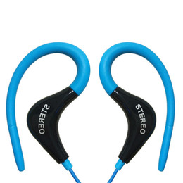 Chinese  3.5mm sport Earphones Headphone Headset with Mic For iPhone Samsung Xiaomi MP3, High quality Bass For Running OPP Pack manufacturers
