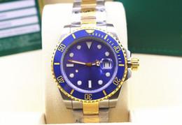 $enCountryForm.capitalKeyWord Australia - High Quality Wristwatches Automatic 116613LB 40mm Two Tone Blue Ceramic Bezel Dial Luminous Mens Men's Watch Watches Original Box File