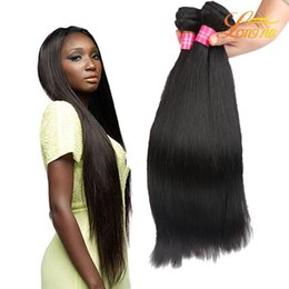 Human Hair Extension Wholesale Factory NZ - Factory Price 100% Indian Virgin Human Hair Straight Unprocessed Human Hair Extension Natural Color 1B Straight Hair Weft Can Be Dyed