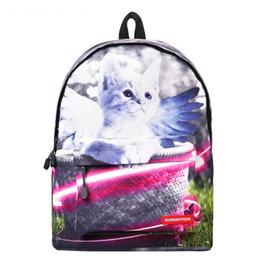 $enCountryForm.capitalKeyWord NZ - Brand Canvas Animal Printing Backpack Women Cute School Backpacks for Teenage Girls Vintage Laptop Bag Rucksack Bagpack