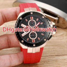 $enCountryForm.capitalKeyWord Canada - New style luxury mens sports watches Racing Chronograph Red rubber strap stainless steel 43mm limited wristwatch Free Shipping Mens Watches