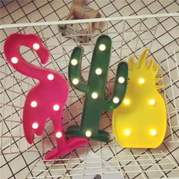 PineaPPle led light online shopping - Led Modeling Lamp Christmas Tree Decorative High Quality Flamingo Cactus Pineapple Light Wide Range Of Use Hot Sale wy D R