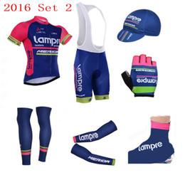 team lampre bike 2019 - 7pcs full set Team lampre merida cycling jersey breathable summer Short sleeve quick dry bike clothing MTB Ropa Ciclismo