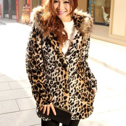 Discount Ladies Leopard Fur Coats | 2017 Ladies Leopard Faux Fur ...