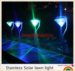 decorative solar yard lights 5pcs lot stainless led solar power lawn light outdoor 100