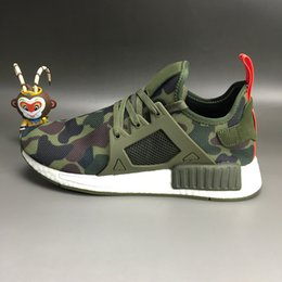 Discount army duck fabric New XR1 Black Friday Duck Camo olive Boost Navy White Army Green for MND III Net Surface Running Shoes Size 36-45