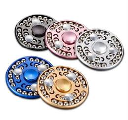 Il più nuovo metallo della lega di alluminio 27 perle Gyro Spinner Toy Spinner mano adulto Finger Spinner Professionale Autismo ADHD con la scatola al minuto