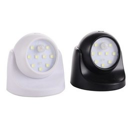 $enCountryForm.capitalKeyWord Canada - 9LED dual light sensor control human body induction energy saving lamp 360 degrees automatic rotation induction night light