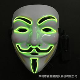 $enCountryForm.capitalKeyWord Australia - Top Grade Glowing Party Masks V for Vendetta Masks Anonymous Guy Fawkes Fancy Dress Adult Costume Accessory Party Cosplay Masks Free size