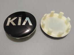 58mm wheel center caps online shopping - 4pcs mm Black Wheel Center Hub Caps for KIA for Kia emblem logo Badges Cerato Sportage R K2 K3 K5 Wheel Center Cover Hub