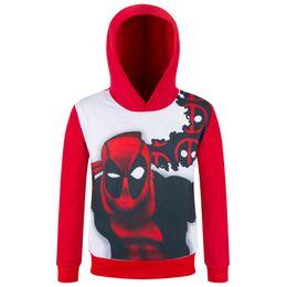 Cheap Organic Canada - 110-150cm cheap Deadpool 3D printing die for children cartoon T-shirt long sleeve shirts sweater kids hoodies brand usa 4-16 years